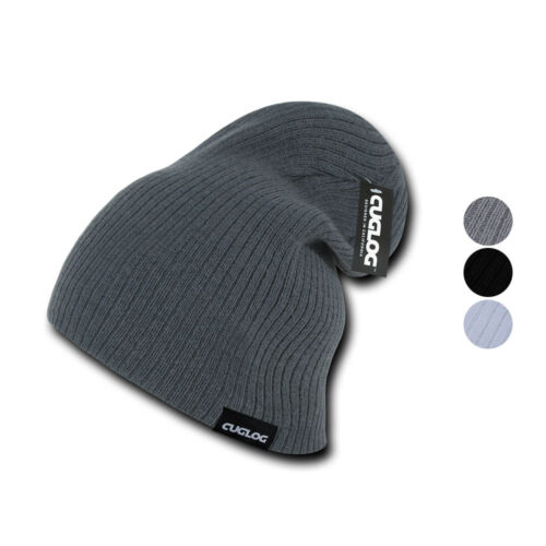 Cuglog Vinson Slouch Beanies Style Classic Knit Winter Cuffed Caps Hats