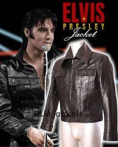En Noir Classique Pour Doux Manteau Elvis De Homme Homme Cuir Veau 8fnCC605wq