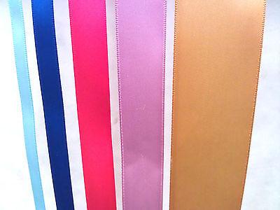 7//8-100 YARDS 5//8 Polyester 1-1//2 7//8 WHITE Single Face Satin Ribbon Roll Choose Size 1//4 3//8