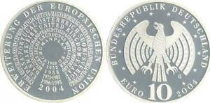 Extension the Eu 2004 Mint Mark G Proof, IN Coin Capsule
