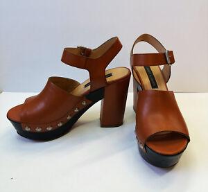 rivenditore online 18f4e 51802 JANET & JANET - 37400 Sandalo tipo zoccolo con tacco e tomaia in ...