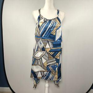 a1a4c53a9d8 Details about ASHLEY STEWART Women Sleeveless Dress Size 22 24 Casual  Polyester Cocktail D54
