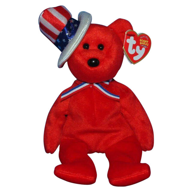 Ty Beanie Baby Sam - MWMT (bear Red 2003) Patriotic for sale online ... f5a2bc255ef
