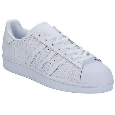Adidas Originals Superstar Baskets Homme Chaussures en cuir Triple Blanc AQ8334   eBay