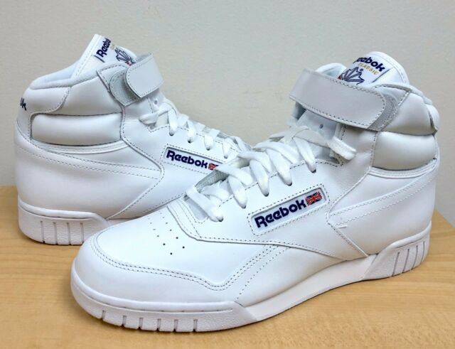 7ae1e4c5d60e Reebok Ex-o-fit Hightop Sneaker Sports Fitness Trainers Classic ...