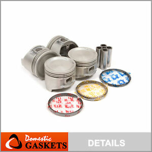 Pistons /& Rings Piston w//Ring Set compatible with Nissan 720 D21 Pathfinder Van 2.4L SOHC Z24 Z24i Z24S