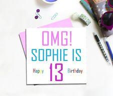 Item 5 Teenage Birthday Card For Girl 13 14 15 16 17 18 19 Daughter Granddaughter Niece