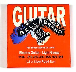 four sets bell brand electric guitar strings light gauge ebay. Black Bedroom Furniture Sets. Home Design Ideas