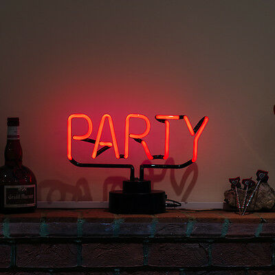 Real Neon (Not LED) Theme Light Table Lamp Home Bar Pub Shed Big PARTY SCULPTURE