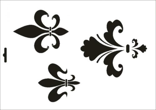Wandschablone Maler T-shirt Schablone W-199 Fleur de Lis ~ UMR Design