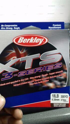 Berkley XTS monofilament fishing line 18lb 300 yard spool