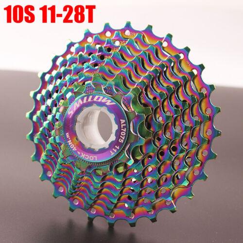 11 Speed Road Bike  Cassette 9//10//11S 11-28 TUltraligh Colorful  Card Flywheel*1