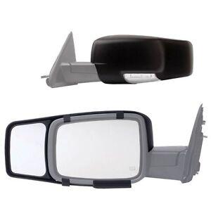 clip snap on tow mirror extension for 2014 2015 chevy silverado 1500 2500 3500 ebay. Black Bedroom Furniture Sets. Home Design Ideas