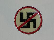 "Anti Nazi 1"" Pin, hat, shirt, vest, lapel, biker, motorcycle, military, jacket"