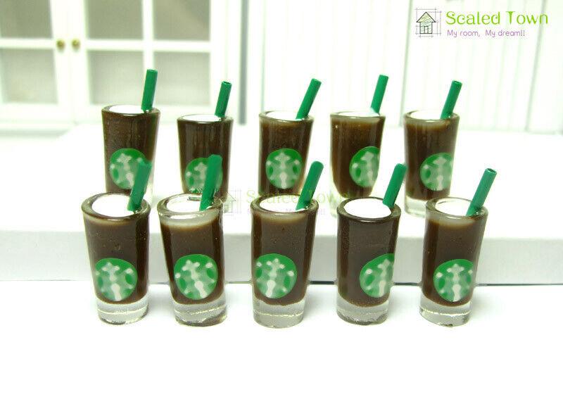 10 x Coffee cups 2.8cm H