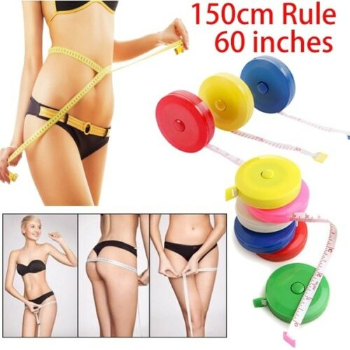 150cm Leather Flexible Rule Band Tape Measure Auto Recovery Ruler