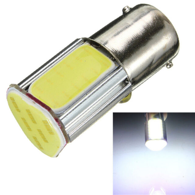 2X G18 1156 Ba15s 4 COB White LED Turn Signal Rear Light Car Lamp 12V D083  ATAU