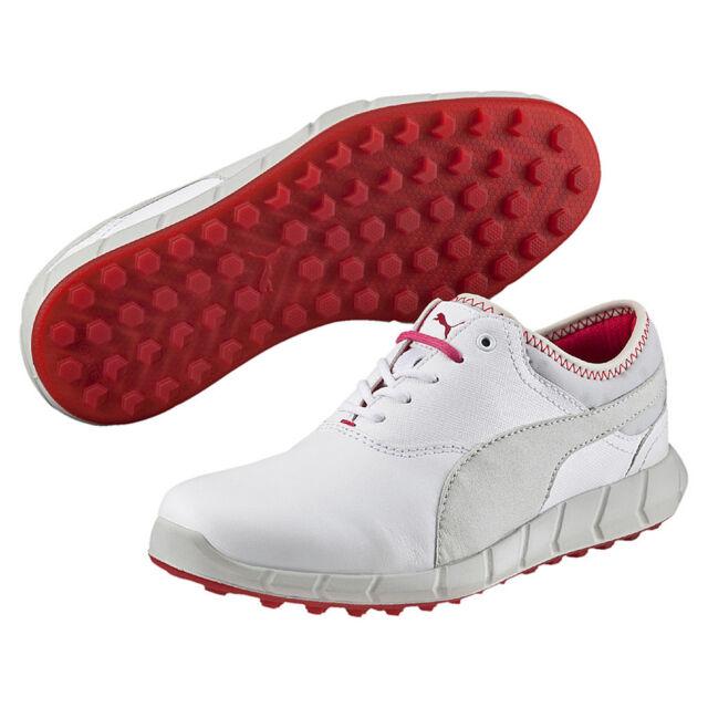Puma Ignite Golf Spikeless Damen Golfschuhe Golf Leder weiß 189109 01