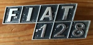 Vintage CLASSIC CAR BADGE FIAT 128 One Two Eight - Bosima