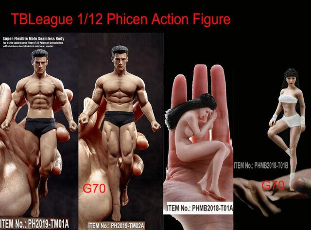 1//6 Scale Flexible Female Pale Skin Action Figure Body Model Dolls No Head