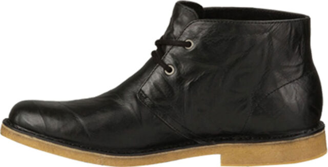 UGG Men's LEIGHTON CHUKKA DESERT Leather Boots Black 3275-BLK TWINSOLE a