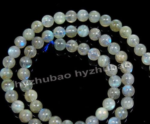 4//6//8// 10mm Natural AAA Rainbow Labradorite Gemstone Round Loose Beads Chatoyant