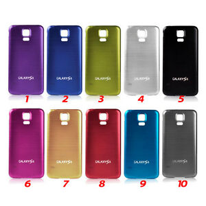 Tapa-bateria-trasera-aluminio-para-Galaxy-S5-color-negro-plata-rosa-rojo-oro