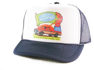 4d284712abf1d Image is loading Vintage-Ford-Trucks-Trucker-Hat-mesh-hat-snapback-