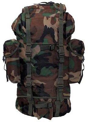 Ernst Us Rucksack 65 Ltr Army Outdoor Backpack Rucksack Woodland Camouflage Pack