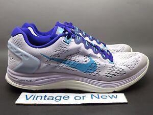 6209246fff62 Women s Nike Lunarglide 5 Violet Frost Purple Gamma Running 599395 ...