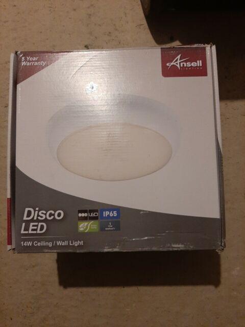 Ansell Disco 14w White Energy Saving LED Bathroom Ceiling ...