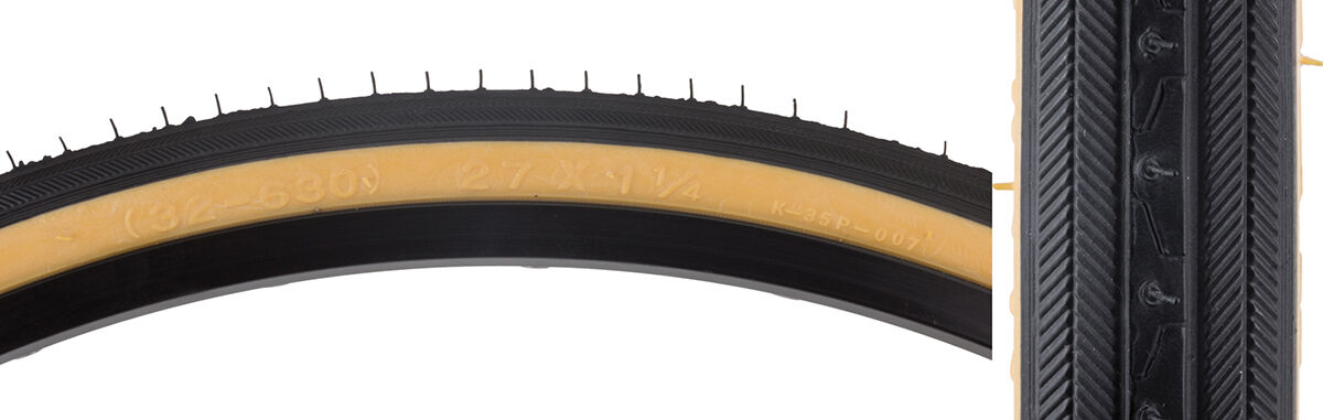 27 X 1 1 4 Road Bike Bicycle Fixie Tire Set 2 Tires 2 Tubes & Strips Gum Wall