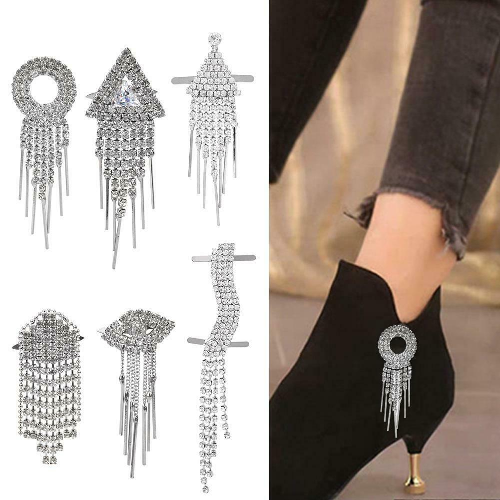 Diamante Tassel Wedding High Heel Shoe Clips Garment Decoration Craft GO