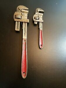 10 long Vintage Drop Forged Steel Adjustable Pipe Wrench