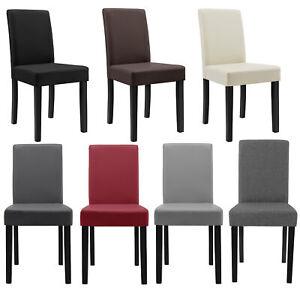 en.casa ® Stühle Hochlehner Esszimmer Stühle Schwarz Kunst-Leder  Stuhl 6x