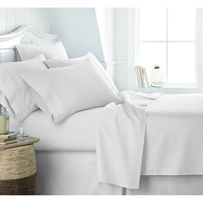 LUXURIOUS BEDDING SET WHITE SOLID 100/% COTTON 600 THREAD COUNT 10 INCH DEEP