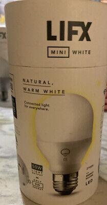 Siri Mini White A19 Wi-Fi Smart LED Bulb with Alexa Microsoft Cortan... LIFX