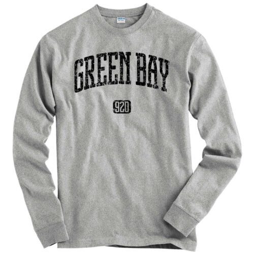 Cheesehead Wisconsin Packers  Men Green Bay 920 Long Sleeve T-shirt LS Youth