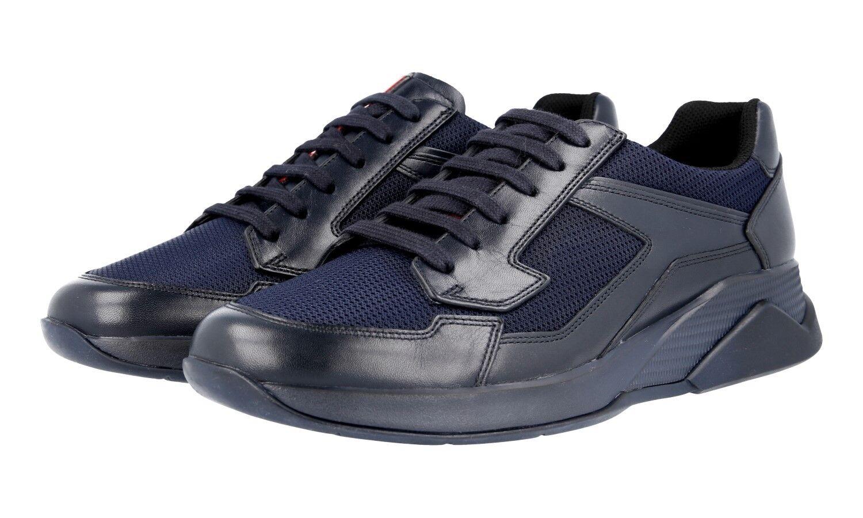 LUXUS PRADA SNEAKER SCHUHE 4E2816 blue NEU NEW 7 41 41,5