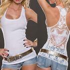 Chemise à encolure en dentelle féminine à manches longues Blouse Débardeurs T-sh