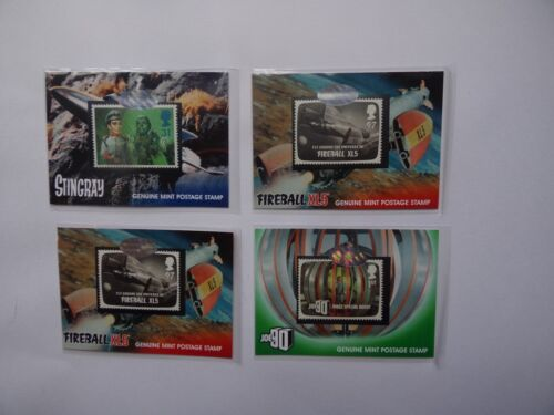 Verzamelingen Gerry Anderson set of 4 rare stamp  cards by unstoppable cards