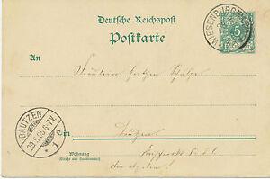 DT-REICH-WIESENBURG-MARK-sehr-selt-K1-a-5-Pf-Kab-GA-Postkarte-n-BAUTZEN-034
