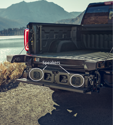 2019 2020 Gmc Sierra 1500 Multipro Tailgate Kicker Speaker System