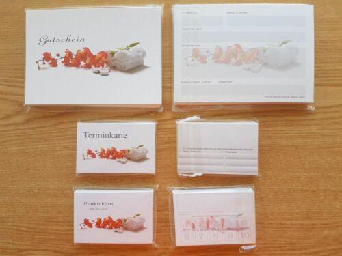 Restposten 106 Massage 550 Teile Set Geschenkgutscheine Terminkarte Bonuskarte