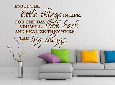 Geleerd Enjoy The Little Things Wall Art Vinyl Home Decor Big Homewarming Quote