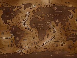 Poster Cartina Geografica Mondo.Quadri Moderni Poster 100x70 Carta Geografica Mondo America Asia