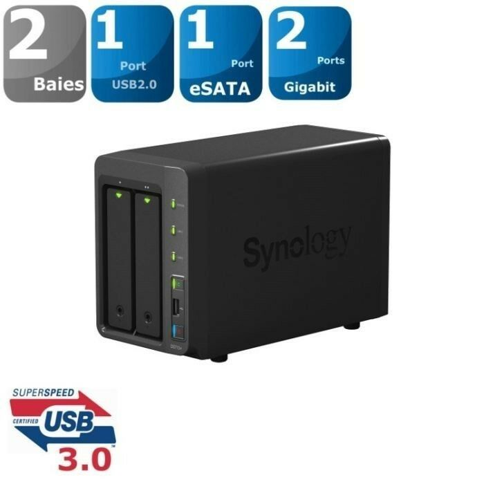 NAS Synology DS214+ Max 12 TB, ekstern, 12000 GB
