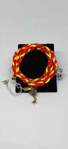 Bracelet cordons harry potter gryffondor rouge jaune idee cadeau potterheads