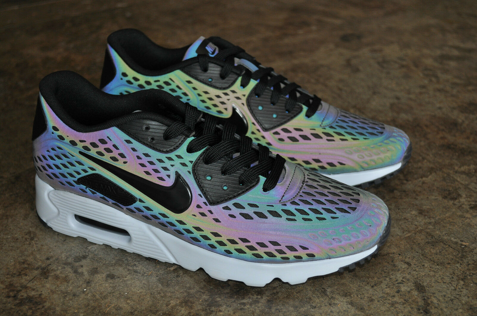 Nike Air Max 90 Ultra Moire Holographic-Deep Holographic-Deep Holographic-Deep Peltro Nero-focena d50ef0