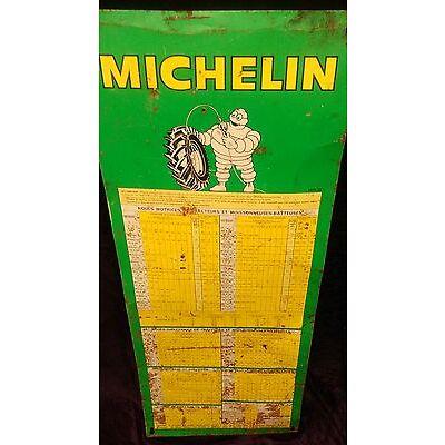 ancienne tole peinte MICHELIN tracteur 70,usine,vintage,moto,solex,no émaillée